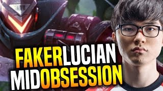 Faker is Obsessed to Play Lucian Mid! - SKT T1 Faker SoloQ Playing Lucian Midlane | SKT T1 Replays