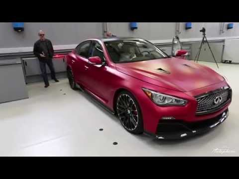 Walkaround Infiniti Q50 Eau Rouge (Red Wrap) Before Beijing Motor Show 2014
