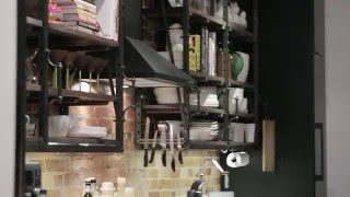 Interior Design — Hip Industrial Galley Kitchen Design