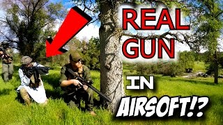 REAL Gun in AIRSOFT!?