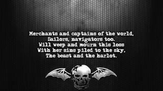 Avenged Sevenfold - Beast And The Harlot [Lyrics on screen] [Full HD]