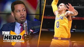 Chris Broussard on if Kyle Kuzma is Lakers' 2nd star, talk Luke Walton's job status | NBA | THE HERD