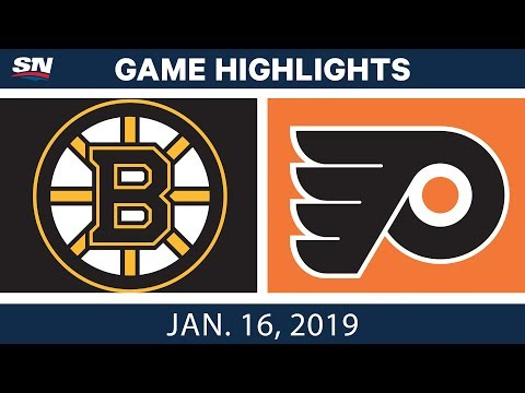NHL Highlights   Bruins vs. Flyers - Jan. 16, 2019