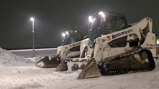 Sniego valymas su Bobcat mini krautuvais