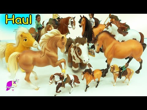 Giant Haul Spirit Riding Free Breyer Horses - Traditional , Brushable + Action Figure Riders
