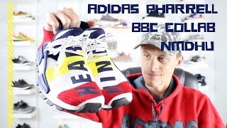 9eead336042d8 ADIDAS PHARREL BBC COLLAB NMD HU (Unboxing and on foot opinion)