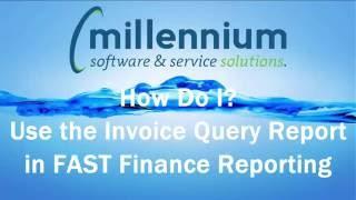 How Do I? Use the Invoice Query