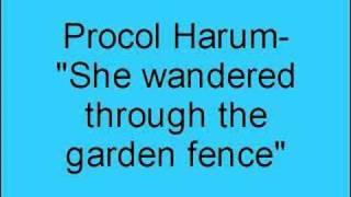 Procol Harum- She wandered through the garden fence