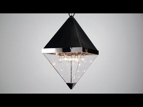 Video for Coltrane Polished Nickel Eight-Light Pendant