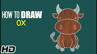 How to Draw OX (बैल) Easy Step By Step Drawing Video For Kids |  Shemaroo Kids Hindi