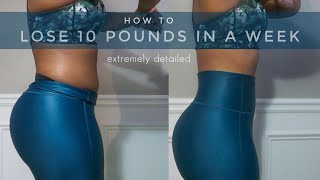 HOW I LOST 10 POUNDS IN 1 WEEK | What I Ate To Lose Weight | Ambril G. McLaurin