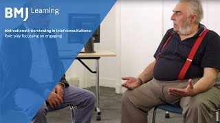 Motivational interviewing in brief consultations: role-play focussing on engaging