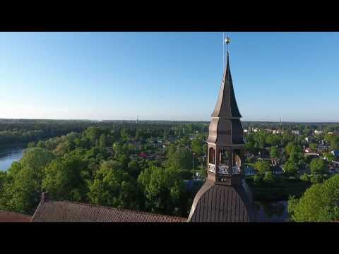 Валмиерский собор Св. Симона с птичьего полета