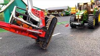 BRUDER Jack City JOHN DEERE rescue Mini EXCAVATOR + Road Sweeper