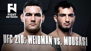 UFC 210: Chris Weidman vs. Gegard Mousasi in Buffalo, New York