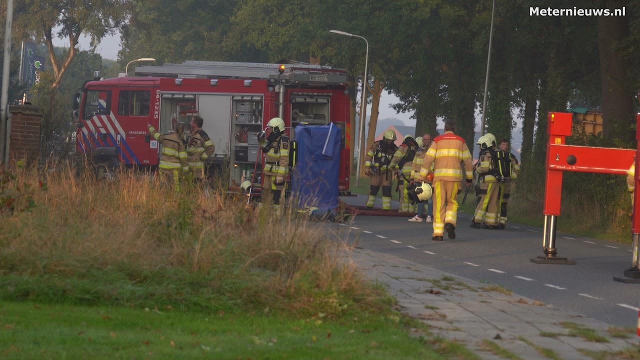 Grote brand Vollenhove door snelle brandweerinzet snel onder controle