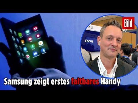 Erstes FALTBARES Smartphone: Samsung zeigt Handy der Zukunft