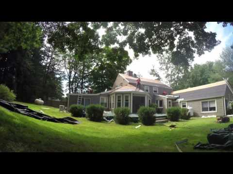 Klaus Larsen Roofing replaced the entire roof on this Columbia, CT property in less than 24 hours!