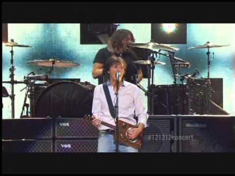Paul McCartney Foo Fighters Nirvana live 121212concert Cut Me Some Slack