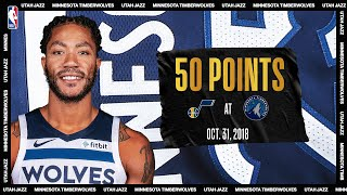 Derrick Rose 50 Point Game: Utah Jazz @ Minnesota Timberwolves #NBATogetherLive October 31, 2018