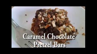 Caramel Chocolate Pretzel Bars