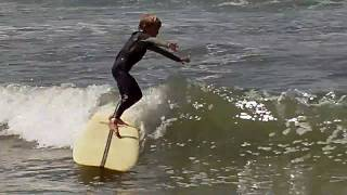 Cam gets his first wave