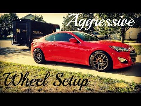 Genesis Coupe - Aggressive Wheel Setup //Install//ESR-SR08