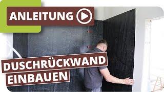 Duschrückwand einbauen mit planeo Wallboard