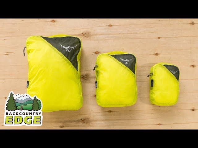 Видео Органайзер Osprey Ultralight Packing Cube Large Shadow Grey