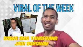 VIRAL OF THE DAY: Siswa SMA asal Tangerang Diburu Netizen Dunia, Imbalan Capai Puluhan Juta