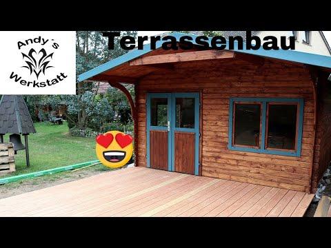Terrassenbau Teil 2 - Terrassendielen verlegen - Douglasie Dielen