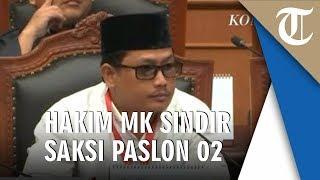 Hakim MK Sindir Saksi Prabowo: Malam-malam Begini Anda Masih Pakai Kacamata Hitam?