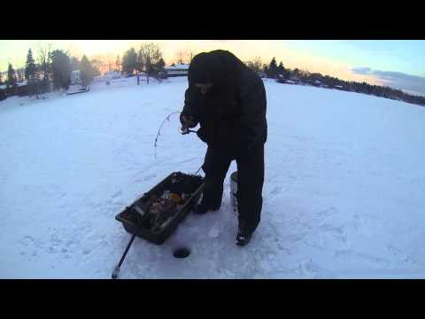 Ball Pond Large Mouth Ice fishing
