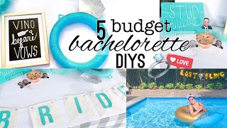 5 DIY Cheap And Easy Dollar Store Bachelorette Party Decorations