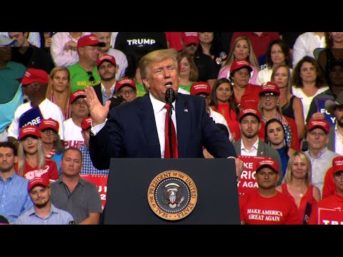 President Donald Trump officially kicked off his re-election campaign Tuesday with a grievance-filled Florida rally.