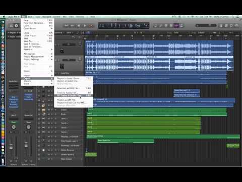 Logic Pro X – Video Tutorial 07 – Import Audio, Export Audio, Export All Tracks