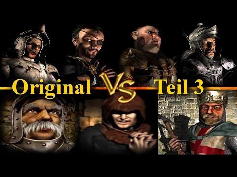 Die 4 Herzoge vs Marschall, Abt, Richard - Teil 3 | Original Burgen | Stronghold Crusader KI Kämpfe (видео)