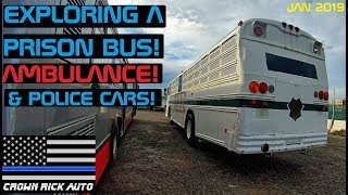 Exploring A Prison Bus, Ambulance & Police Cars! Crown Rick Auto
