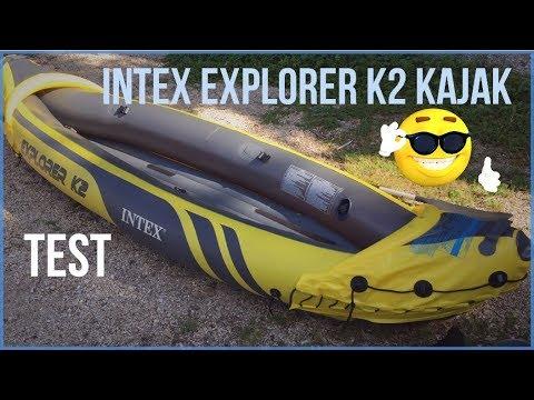 ► Intex Explorer K2 Kajak: Test und unboxing