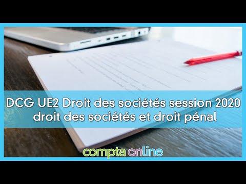 Sujet et corrigés du DCG 2020 - UE2 Droit des sociétés