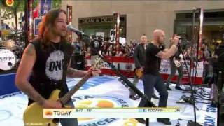 Daughtry performing Feels Like Tonight  on the Today Show - 8/20/2010