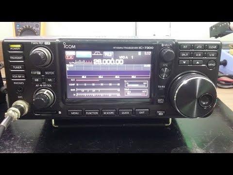 ICOM IC 7300 TROCA DE PAINEL FRONTAL E REVISÃO PÓS COMPRA.