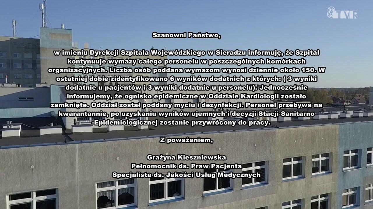 Oświadczenie Szpitala Wojewódzkiego w Sieradzu