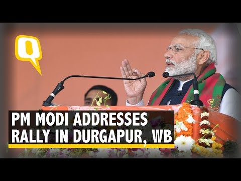 PM Modi Addresses a Rally in Durgapur, West Bengal