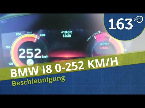 BMW i8 Beschleunigung 0-100 kmh 0-252 km/h Acceleration TopSpeed on German Autobahn #163Grad