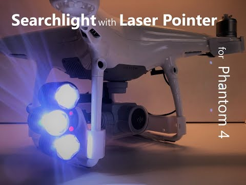 drone-sky-hook--installing-the-led-searchlight-with-laser-pointer-on-dji-phantom-4