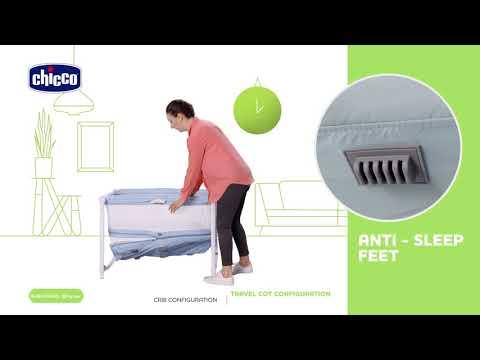 سرير متنقل للاطفال Zip&Go بلون ازرق بحري | شيكو