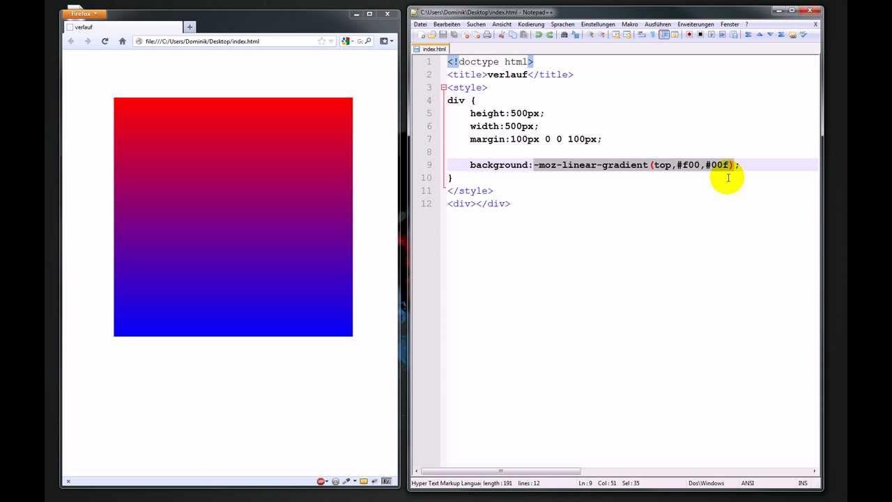 Verläufe mit CSS3 – Webdesign-Tutorial
