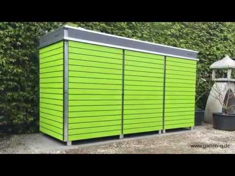 Moderne Mülltonnenboxen mit Pfiff!
