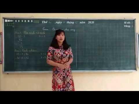 Clip: Hướng hẫn HS ôn tập môn Toán về phép tính cộng, trừ trong phạm vi 10 - lớp 1 - TH Bách Thuận
